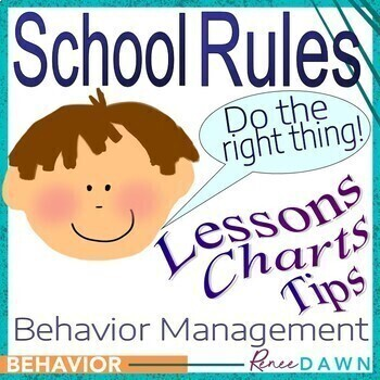 Behavior Management Ultimate Guide - School Rules - Behavior Charts & Printables