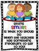 Behavior Management Sit Smart Anchor Charts and a Few Othe