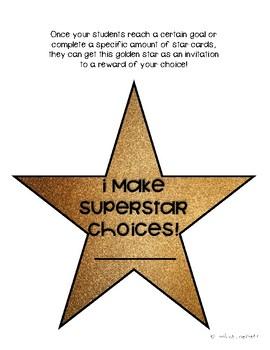 Behavior Management Star Cards