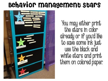 Behavior Management Stars