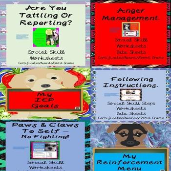 Behavior Management Student Portfolio Set Up Pages Special Education