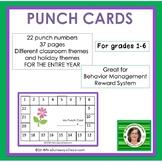 Behavior Management Student Punch Cards