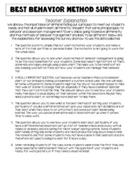 Behavior Management Survey