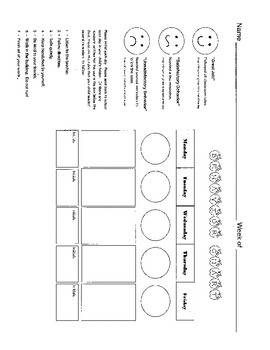 Behavior Chart / Behavior Management