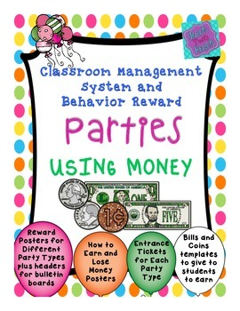 Behavior Management System - Classroom Economy -Money - editable