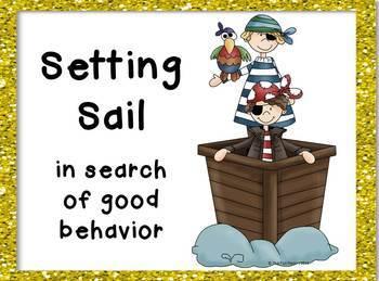 "Clip Chart - Pirate Themed ""Treasured Behavior"""