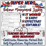 Behavior Management System, Super Hero Theme!  Creates Self-Regulated Heroes!