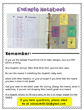 Behavior Management System for Middle School and High School Students