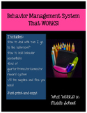 Behavior Management System that WORKS! Any Grade Level!