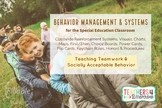 BEHAVIOR MANAGEMENT SYSTEMS * Classwide Positive Reinforcement*Special Education