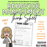 Behavior Management: Think Sheet