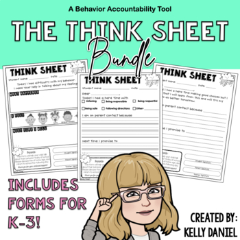 Behavior Management: Think Sheet BUNDLE