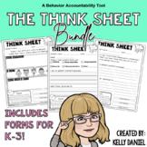 The Think Sheet Bundle: K-3 Behavior Tools