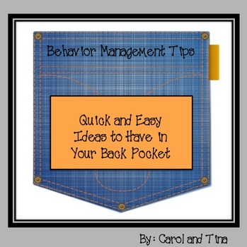 Behavior Management Tips: Quick and Easy Ideas to Have in Your Back Pocket