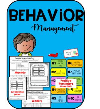 Behavior Management Tool-Kit-Classroom Agreement, Behavior Tickets, Behavior log