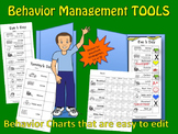 Behavior Management Tools, picture behavior chart  for Pre-K---1st and Sp. Ed.
