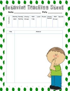 Behavior Management Tracking Sheets