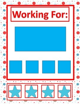 Behavior Management-Working For Task- Autism- Visual Support