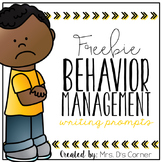 FREE Behavior Management Writing Prompts