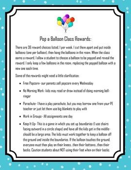 Back to School Behavior Management and Reward Packet