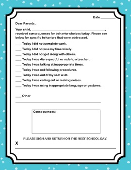 Back to School Behavior Management and Reward Packet