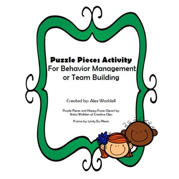 Behavior Management and Team Building Puzzle Activity