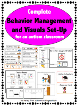 Behavior Management and Visuals for an Autism Classroom