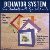 Behavior System - Great Visual Plan for Students with Spec