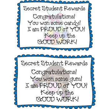 Behavior Management in any Classroom: Secret Student Reward Coupons
