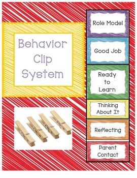 Behavior Management/PBIS Clip System - Crayon Scribble