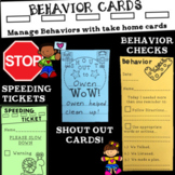 Behavior Managment Slips {Behavior Checks, Speeding Ticket