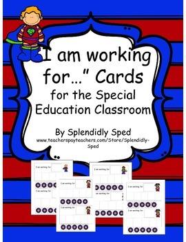 Behavior Mangament/Token Economy/Work Card--Autism