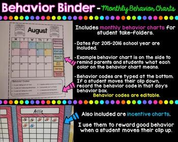 Behavior Mangement Binder