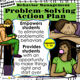 Classroom Management Behavior Modification Action Plan - Middle & High School
