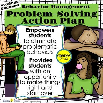 Classroom Management Behavior Modification Action Plan - Middle & High School