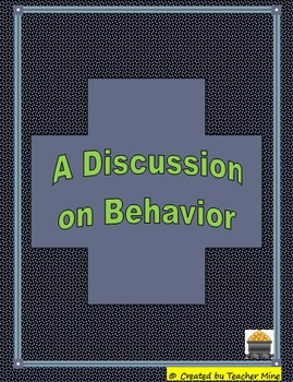 Behavior Modification - It's Easier to Just Be Good, Isn't It?