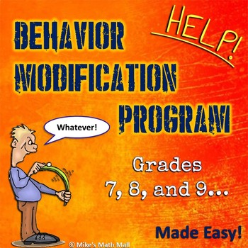 Behavior Modification Program Made Easy - Grades 7, 8, and 9