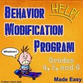 Behavior Modification Program Made Easy - Grades 4, 5, and 6
