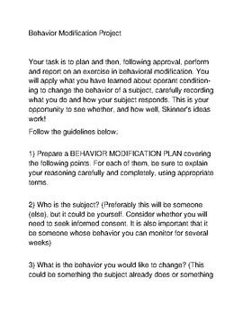 Behavior Modification Project
