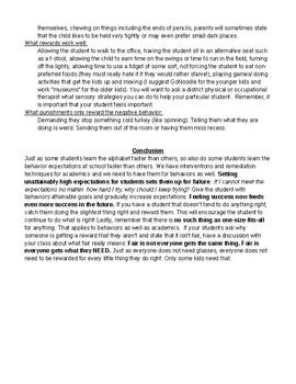 Behavior Modification Summary