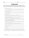 Behavior Modification - Think Sheet