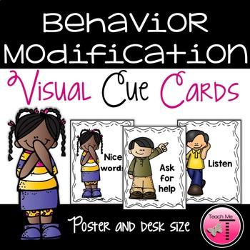Behavior Modification Visual Cue Cards
