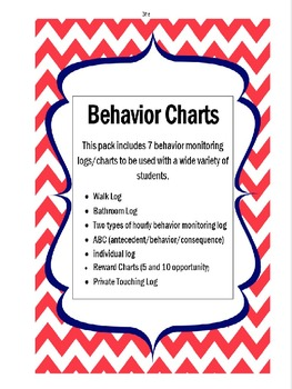 Behavior Monitoring Charts & Logs for any Classroom