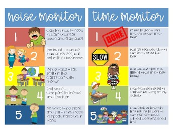 Behavior Monitoring Picture Cards