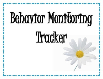 Behavior Monitoring Tracker