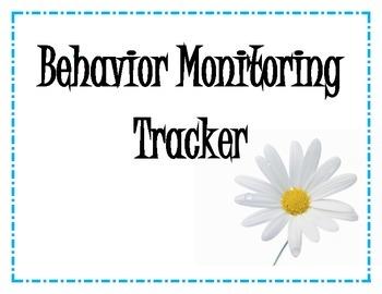 Behavior Monitoring Tracker