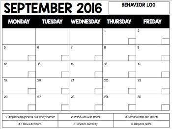 Behavior Monthly Logs
