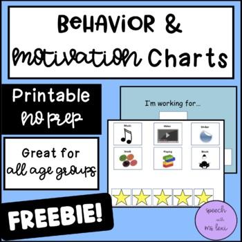 Behavior Motivation Chart (Freebie!)