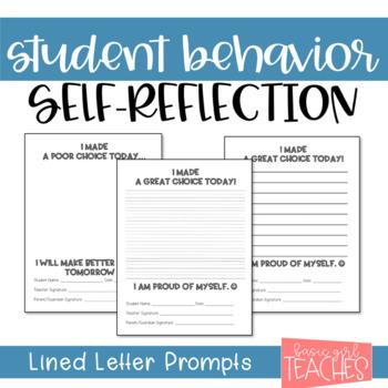 Behavior Letter to Parents