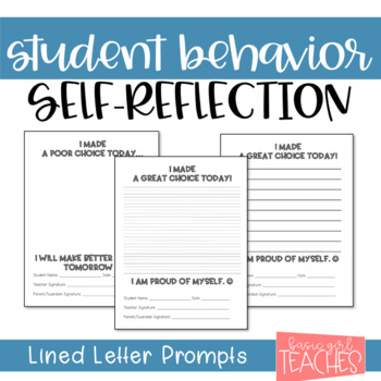 Student Behavior Self-Reflection